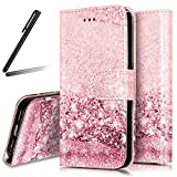 iPhone 7 Stand Case,iPhone 7 Wallet Case,iPhone 7 Cover,Flip Case for iPhone 7,SKYMARS Marble Creative Design Book Style PU Leather Flip Kickstand Cards Slot Wallet Magnet Protective Stand Case for iPhone 7 4.7 inch Rose Gold Sand