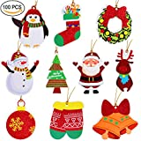 100 Pack Paper Tags for Gift Wrapping Supplies, DIY Xmas Present Label Package Party