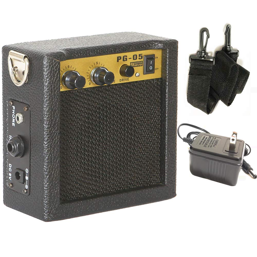 Luvay Guitar Mini Amplifier with Power Adapter for Guitar, Ukulele, Bass, Violin,