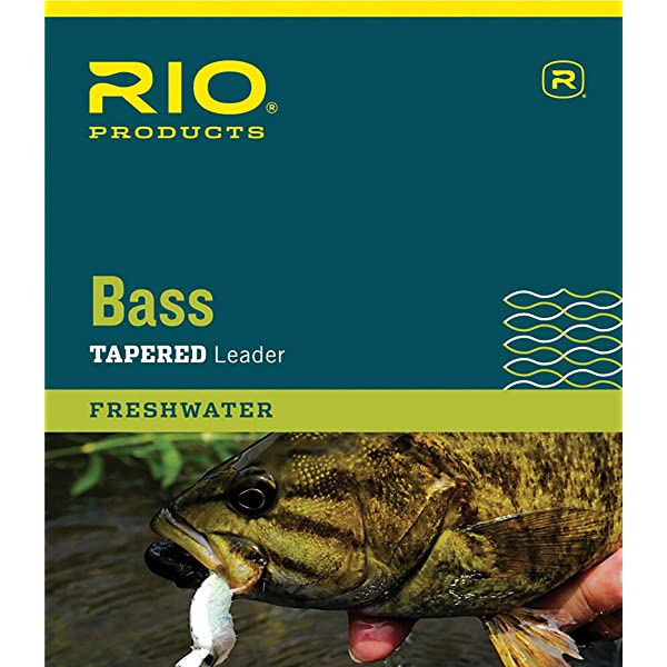 RIO 3-PACK BASS LEADERS 9/' FOOT 8 LB FRESHWATER NYLON FLY FISHING LEADERS