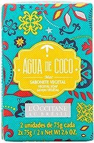 Sabonete Vegetal Água de Coco Mar 2 Unidades L'Occitane au Brésil 75g