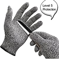 WISLIFE Cut Resistant Gloves Level 5 Protection Food Grade,EN388 Certified, Safty Gloves for Hand Protection, Kitchen Glove for Cutting & Slicing