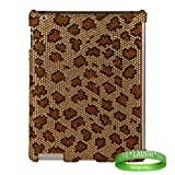 Bedazzled Diamond Leopard Cover Hard Case for all models of The New Apple iPad ( 3rd Generation, iPad3, wifi , + AT&T 3G , 16 GB , 32GB , MC707LL/A , MD328LL/A , MC705LL/A , MC706LL/A, MD329LL/A , MD368LL/A , MC756LL/A , MC744LL/A , ect.. ) + Live Laugh Love Vangoddy Wrist Band!!!