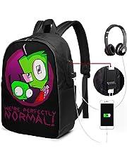 Invader Zim Team Doom USB Backpack 17 in Printed Fashion School Labtop Bag Laptop Backpack