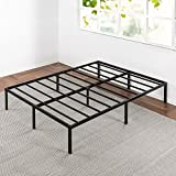 Best Price Mattress Queen Bed Frame - 14 Inch Metal Platform Beds w/Heavy Duty Steel Slat Mattress Foundation (No Box Spring Needed), Black