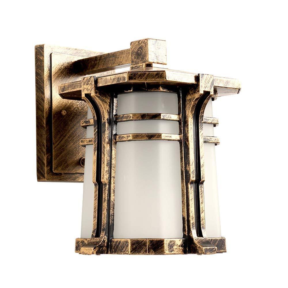 Hdmy Lampada da parete per esterni Lampada da parete per esterni da giardino Cortile per esterni Lampada da parete per colonne pilastro europea Tutta la lanterna in alluminio