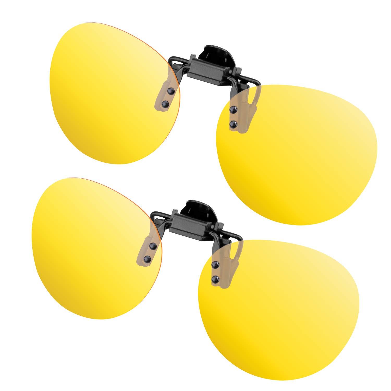 Gafas de sol con clip, lentes rectangulares polarizadas sin ...