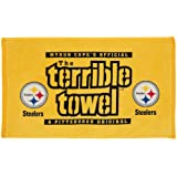 NFL Pittsburgh Steelers Dual Terrible Towel, 24-inch by 15-inch, Black and Gold