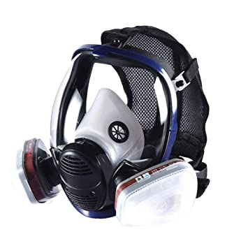 Máscara de la máscara química del polvo del cartucho de filtro de aire del doble del