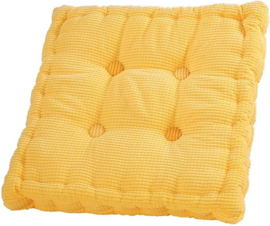 YCCCC Cojines para sillas, sillones de jardín Sillín para Silla de Asiento Cojín de algodón, Cojines Gruesos, Aptos para el hogar, Oficina, Exteriores,Yellow: Amazon.es: Hogar