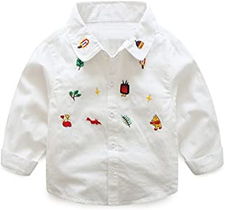 Mud Kingdom Boys' Adorable Shirt with Novelty Embroidery SS0347