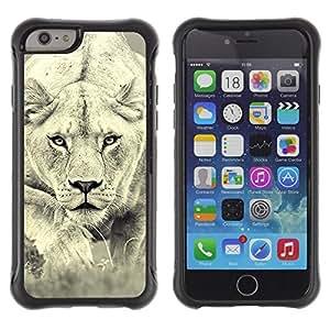 Suave TPU GEL Carcasa Funda Silicona Blando Estuche Caso de protección (para) Apple Iphone 6 / CECELL Phone case / / Lion Photo Female Hunting Safary Big Cat /