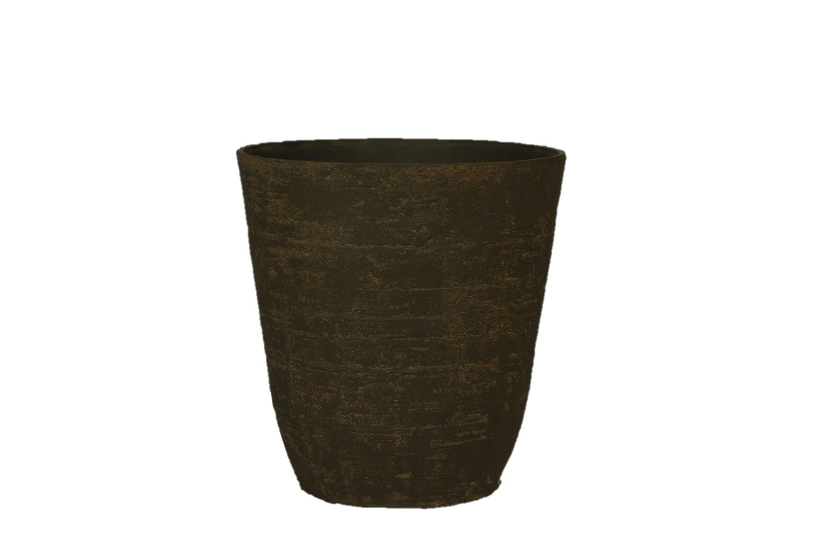 Stone Light Antique AT Series Cast Stone Planter, 20 by 20.5'', Sandal Wood