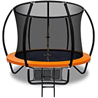 Everfit Trampolines 8-Feet Trampoline with Safety Enclosure