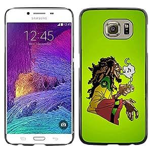 Design for Girls Plastic Cover Case FOR Samsung Galaxy S6 Cool Music 420 Marijuana Rasta OBBA