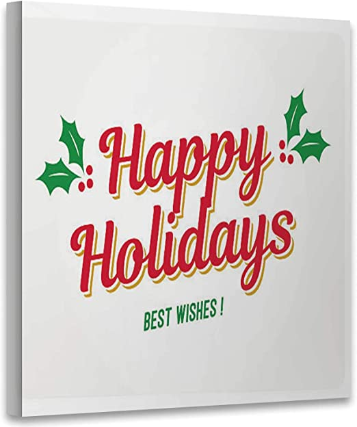 It is an image of Happy Holidays Printable Card inside color
