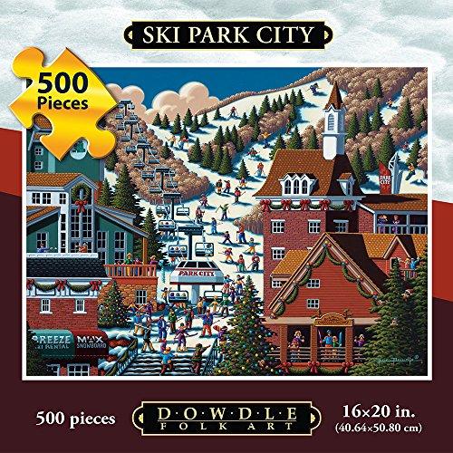 Jigsaw Puzzle - Ski Park City 500 Pc By Dowdle Folk Art