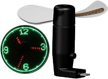 Teléfono Móvil Ruishengda® LED reloj Ventilador Mini Ventilador ...