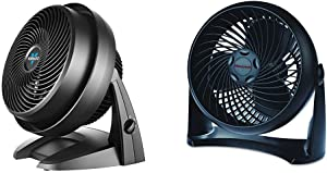 Vornado 630 Mid-Size Whole Room Air Circulator Fan & Honeywell HT-900 TurboForce Air Circulator Fan Black