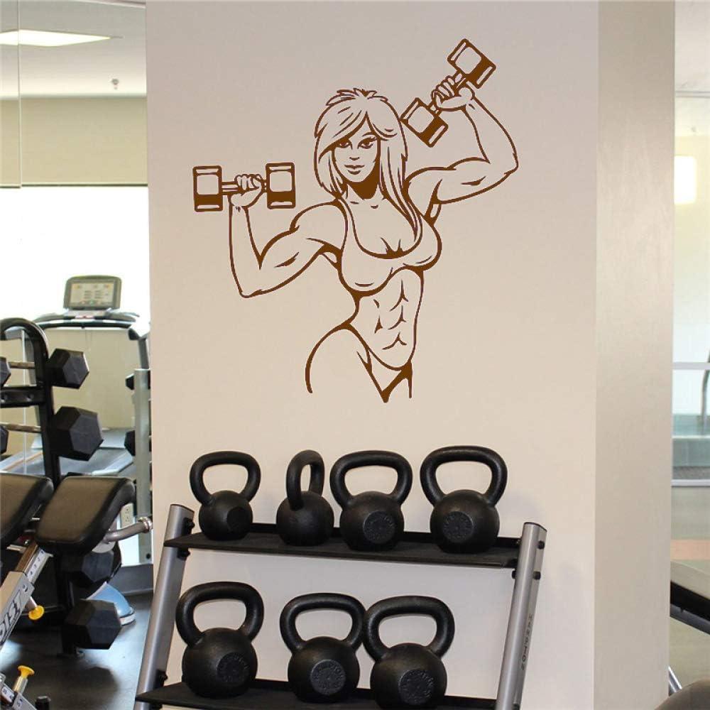 zhuziji Músculos Femeninos Etiqueta de la Pared Fitness Gym Sport ...