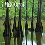 Mississippi, Wild & Scenic 2018 12 x 12 Inch Monthly Square Wall Calendar, USA United States of America Southeast State Nature