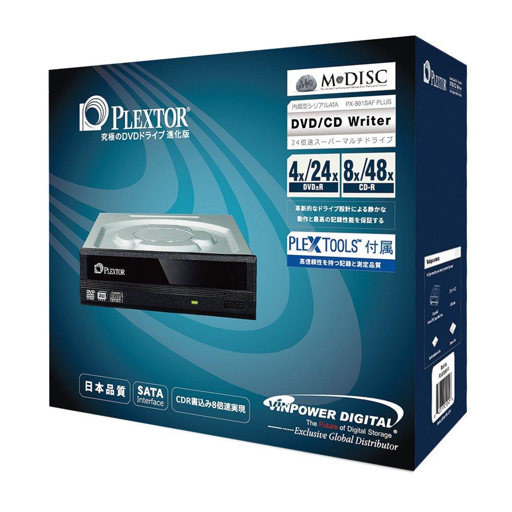 Plextor 24X SATA DVD/RW Dual Layer Burner Drive Writer - Black Optical Drives PX-891SAF-PLUS-R (RETAIL)
