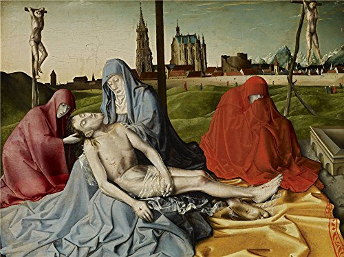 [Oil Painting 'Konrad Witz (Circle Of) - Pieta, C. 1440', 24 x 32 inch / 61 x 81 cm , on High Definition HD canvas prints is for Gifts And Kids Room, Laundry Room And Study Room] (Trailer Trash Outfits)
