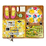Wooden Activity Busy Board for Girls