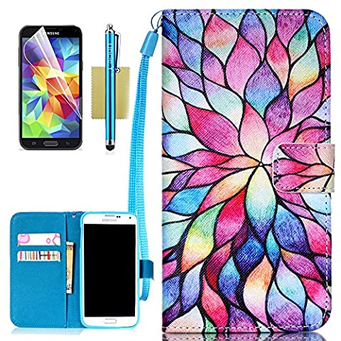 Galaxy S5 Case,S5 Case,Samsung Galaxy S5 Case,Uncle.Y Galaxy S5 Case Wallet Flip Cover PU Leather Folio with Credit Card Slots and Screen Protector Case for Samsung Galaxy S5 I9600 (Flip Cover Cases For Galaxy S5)