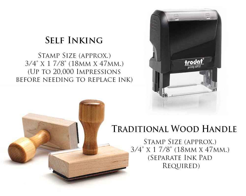 Personalized Custom Signature Stamp. Great Labelling Rubber Stamp With Unique Font. Perfect For Bank Deposits, Registered Nurses, Home, Office Or Schoolwooden Handle Stamper by Pixie Perfect Stamps (Image #2)