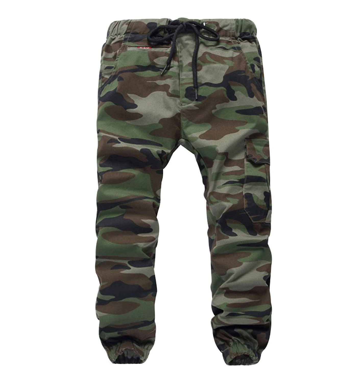 6ed40c3a65 Top3: LOKTARC Boys Pull On Drawstring Jogger Pants Camo Print Cuff Jogging  Bottoms