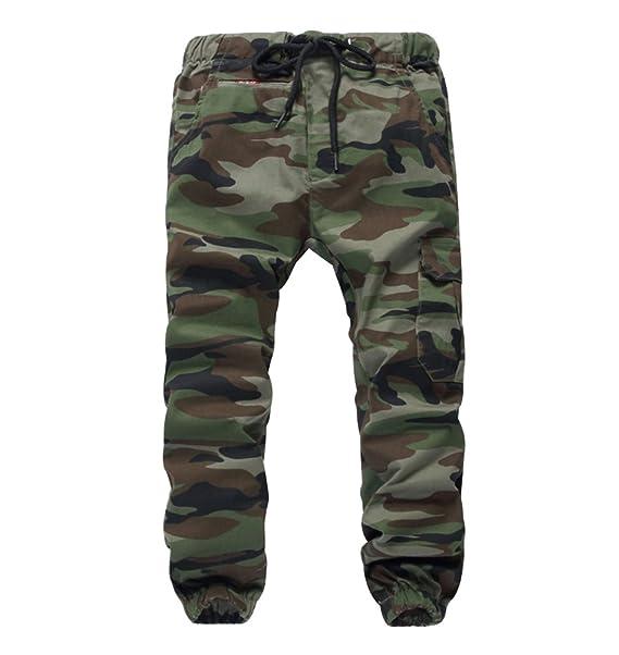 28c9de8ff1 LOKTARC Boys Pull On Drawstring Jogger Pants Camo Print Cuff Jogging Bottoms:  Amazon.ca: Clothing & Accessories