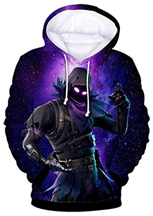 Amazon.com: Battle Royale 3D Printed Hoodie with Pockets (Youth Medium) Purple: Clothing