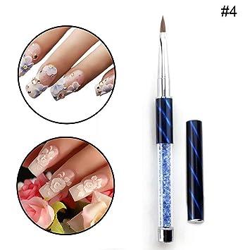 4 Nail Art Brush 100 Kolinsky Hair Carving Pen For Diy Nail Art