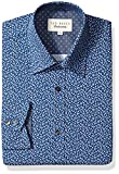 Ted Baker Men's Filmore Dress Shirt, Navy, 15'' Neck 34''-35'' Sleeve