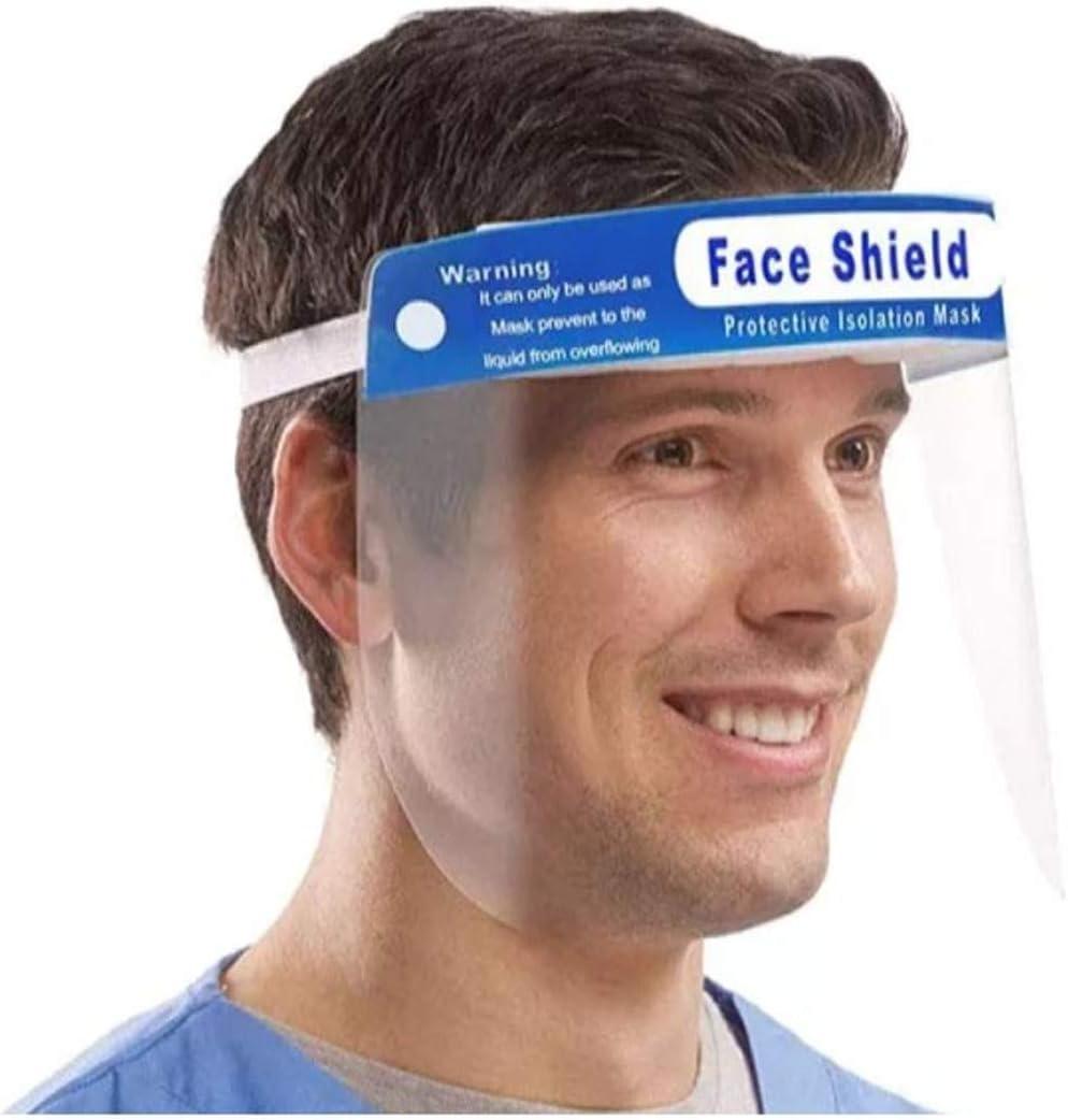 Protection anti-/éclaboussures directes r/éutilisable transparent Visi/ère faciale
