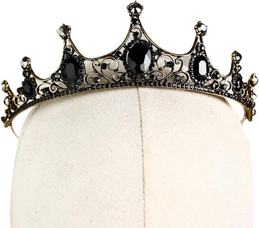SHILI Diamante de imitación de cristal vintage nupcial reina corona tiara para banquete de boda