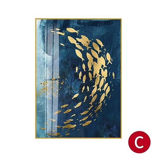 zxddzl Fondo de sofá Americano de lámina de Oro Abstracto Pintado ...