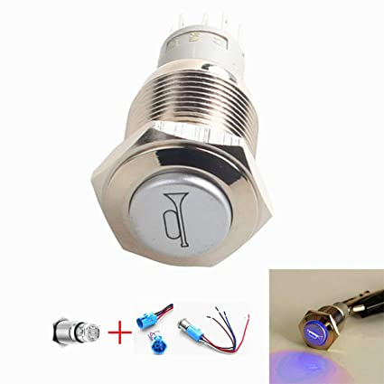YIYIDA Air horn 12-150 auto horn button Switch Momentary Push Button Switch 12V Waterproof Car Auto Momentary Speaker Horn Push Button Metal Toggle Switch