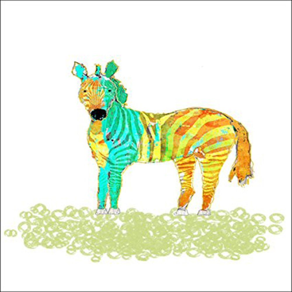 Amazon.com: Watercolor Safari Zebra by John Baran - Stretched Canvas ...