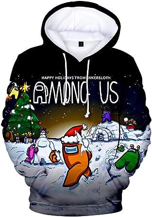 Boys Game Among Us Hoodies Kids 3D Cartoon Casual Hooded Sweatshirts with Pocket