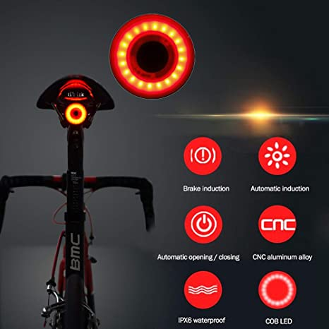 Weite Smart Luz trasera para bicicleta, ultra brillante ...