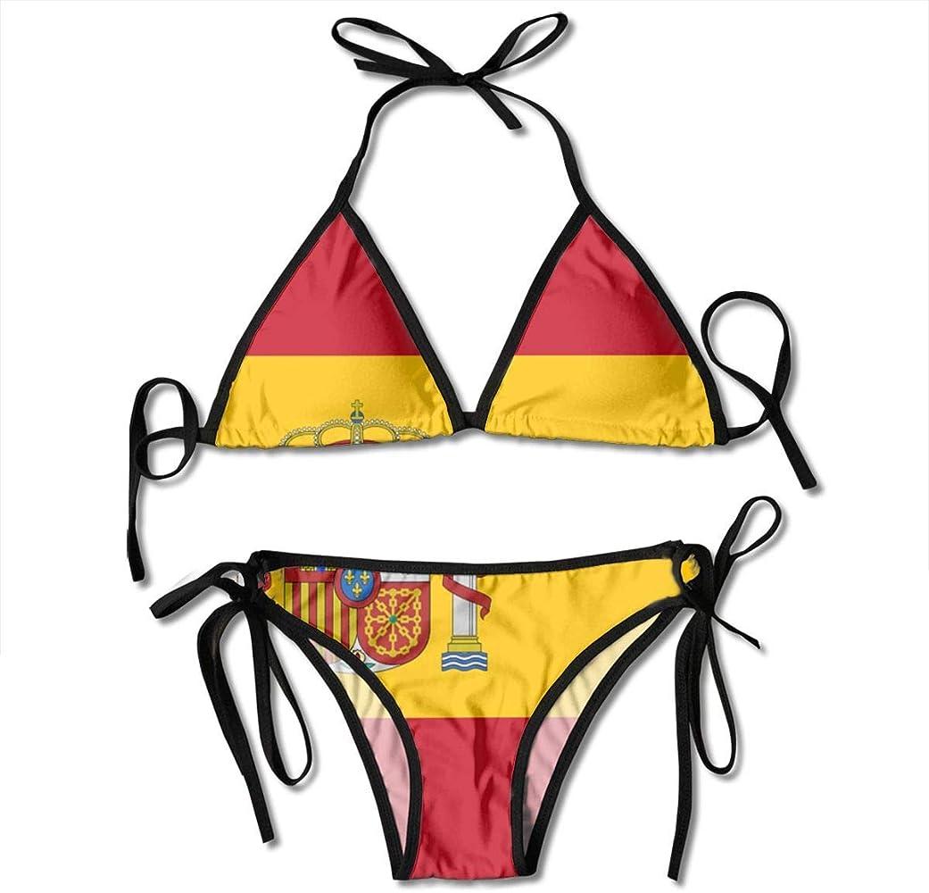 Mujeres España Bandera Bikini de dos piezas Conjuntos para mujeres Sexy Push up Swimwear Summer Tube Top Sling Split Two Piece Beach Swimsuits: Amazon.es: Ropa y accesorios