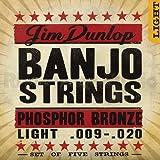 Dunlop DJP0920 Banjo Strings, Phosphor Bronze, Light, .009-.020, 5 Strings/Set