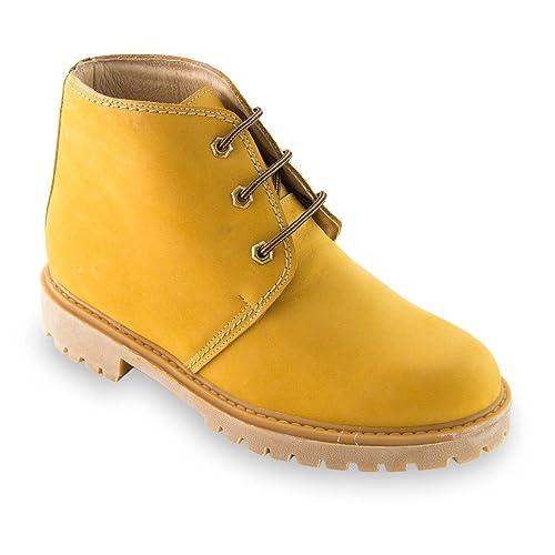 2163c1a1e63bc Masaltos - zapatos con alzas para hombres que aumentan altura hasta +7 cm.  Modelo Bergen Camel talla 44  Amazon.es  Zapatos y complementos