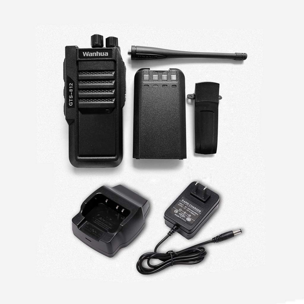 Nelc5kl Walkie Talkies Rechargeable Long Range Two-Way Radios with UHF 403-480Mhz Walkie Talkies 1800 mAh Li-ion Battery and Charger Included Radio (Size : E)
