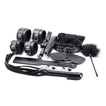Perfect Best Present 10Pcs/Set Tools BDSM Bondage Leather Fetish Kit Restraints Slave s Couples