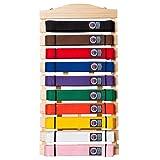 Martial Arts Belt Display Wall Rack Holder for
