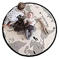 Baby Crawling Mats World Map Pattern Floor Playmats Animal Early Education Ro...