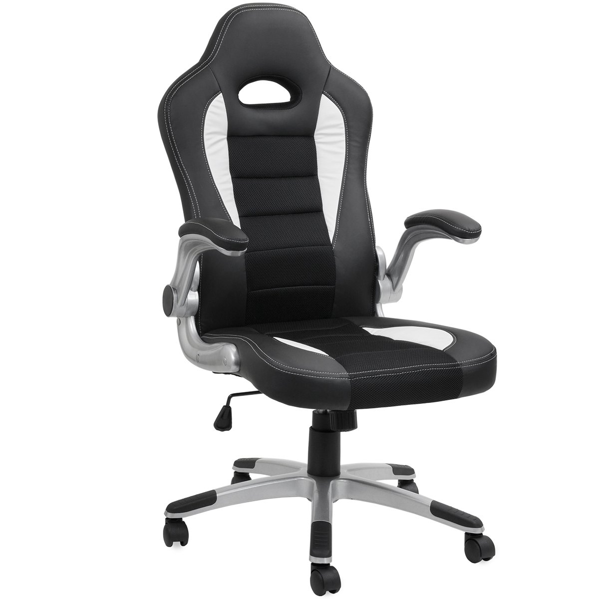 Barton Executive Computer Desk Chair, Racing Car Gaming Chair (Black) by Barton